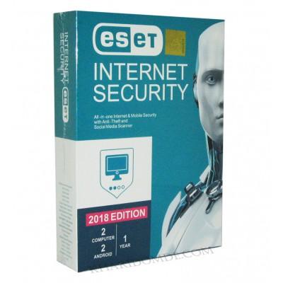 آنتی ویروس eseT INTERNET SECURITY 2018 یک ساله 4 کاربره
