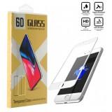 محافظ گلس صفحه نمایش 6D مناسب برای گوشی Iphone 7 Plus سفید