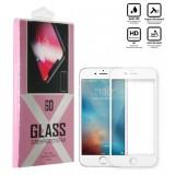 محافظ گلس صفحه نمایش 6D مناسب برای گوشی Iphone 6 سفید