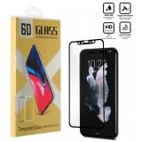 محافظ گلس صفحه نمایش 6D مناسب برای گوشی Iphone X مشکی