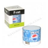اسپیکر شارژی رم خور فلش خور P-net طرح نوشابه Pepsi
