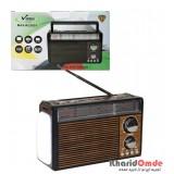رادیو طرح قدیمی شارژی رم و فلش خور Vanmaax مدل SB2031