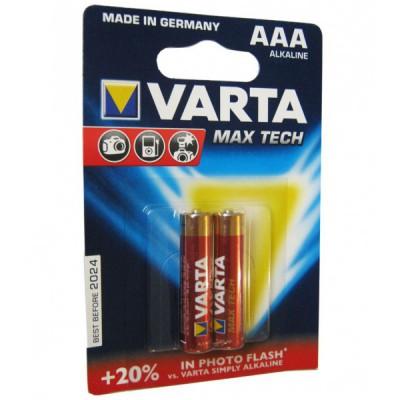 باتری نیم قلمی VARTA مدل AAA MAX TECH Alkaline