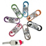 کابل دوکاره آیفون + Micro USB فلت رنگی کد 282
