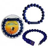 کابل Micro USB مدل دستبند مروارید آبی