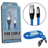 کابل Micro USB فلت مدل AS12 آبی