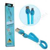 کابل Micro USB فلت FASHION مدل AF15 آبی کد 347