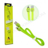 کابل Micro USB فلت FASHION مدل AF15 سبز فسفری کد 347