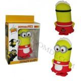 پاوربانک عروسکی 4000mAh طرح minionها کد 1 قرمز-زرد