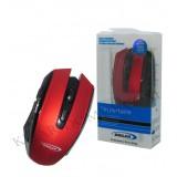 موس بی سیم OSCAR مدل OS-18 قرمز-مشکی
