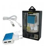 شارژر USB دو پورت Remax مدل RX-D09 آبی