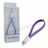 کابل Micro USB پاوربانکی بنفش