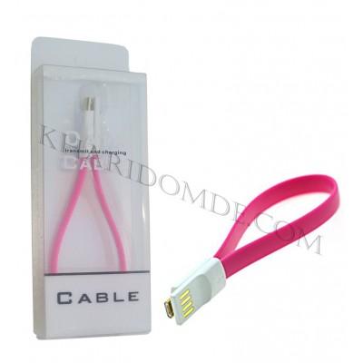 کابل Micro USB پاوربانکی صورتی