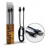 کابل Micro USB کنفی پک بلند GULD مشکی