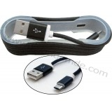 کابل Micro USB کنفی بدون پک فیش فلزی کد 531 مشکی