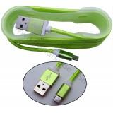 کابل Micro USB کنفی بدون پک فیش فلزی کد 531 سبز