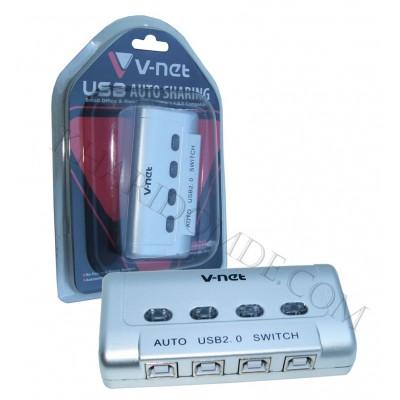 USB سوئیچ Auto چهار پورت V-net پک شرینگ