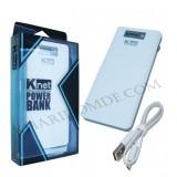 پاور بانک ال سی دی دار knet مدل 10000mAH 1.0/2.1A