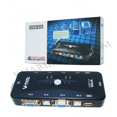 مانیتور سوئیچ 1 به 4 دستی V-net USB