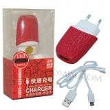 شارژر USB با کابل رنگی Paradise قرمز