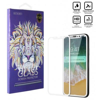 محافظ گلس صفحه نمایش 5D مناسب برای گوشی Iphone X سفید