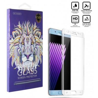 محافظ گلس صفحه نمایش 5D مناسب برای گوشی S8 سفید