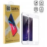 محافظ گلس صفحه نمایش 6D مناسب برای گوشی Iphone 8 Plus سفید