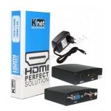 تبدیل VGA به HDMI همراه با آداپتور Knet