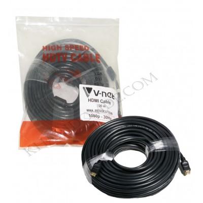 کابل 3D 1.4 HDMI طول 30 متر V-net