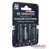 باتری قلمی آلکالاین Daewoo مدل LR6 (پک 4 تایی)