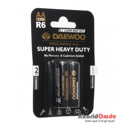 باتری قلمی Daewoo مدل R6 (پک 2 تایی)