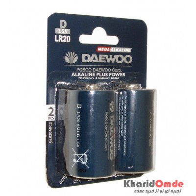 باتری سایز بزرگ مگا آلکالاین پلاس Daewoo مدل LR20