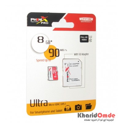 رم موبایل PHONIX PRO مدل 8GB Micro SD U1 Ultra Plus