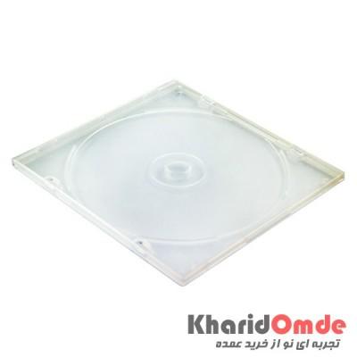 قاب CD اسلیم شفاف سفید شیشه ای