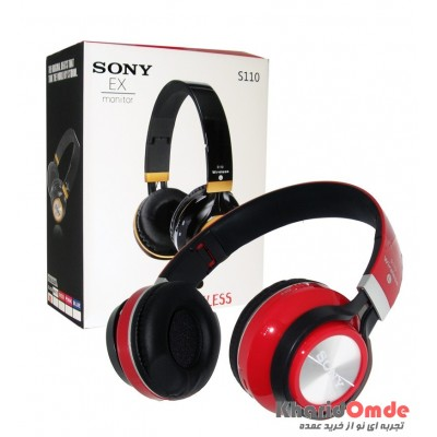 هدفون بلوتوث رم خور Sony مدل S110 قرمز