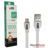 کابل 1.2 متری Micro USB فلت Knet ABS