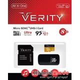 رم موبایل Verity MicroSDHC 8GB 95MB/S 633X خشاب دار