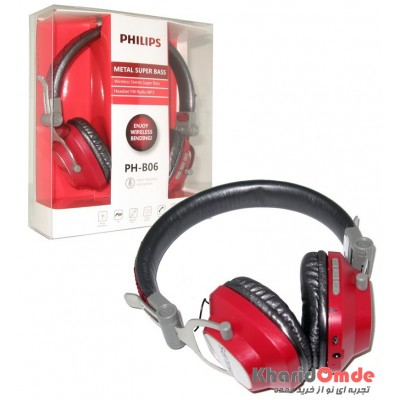 هدست بلوتوث رم خور Philips مدل PH-B06 قرمز