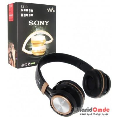 هدفون بلوتوث رم خور Sony مدل S110 مشکی