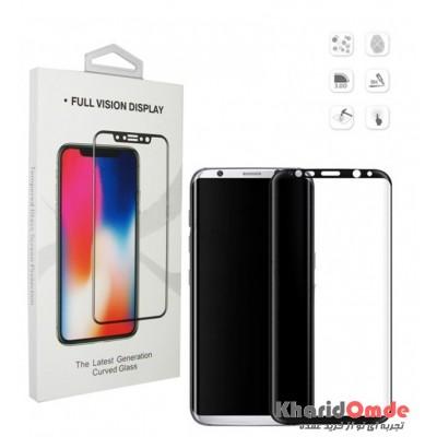 محافظ گلس صفحه نمایش 3D مناسب برای گوشی S8 Plus مشکی