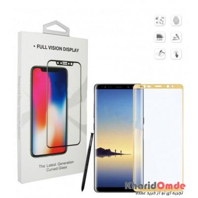 محافظ گلس صفحه نمایش 3D مناسب برای گوشی Note 8 مشکی