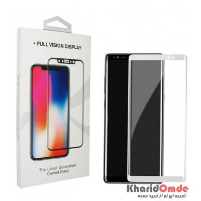 محافظ گلس صفحه نمایش 3D مناسب برای گوشی Note 8 سفید
