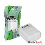 پریز روکار تک پورت شاتر دار Knet مدل KP-N1097