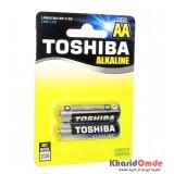 باتری قلمی آلکالاین دو تایی TOSHIBA AA