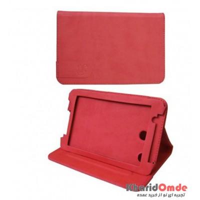 کیف تبلت چرمی Lenovo A3500 & A3300 قرمز M&S کد 110