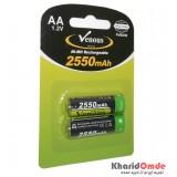 باتری قلمی شارژی Venous مدل PVBSH6 2550mAh