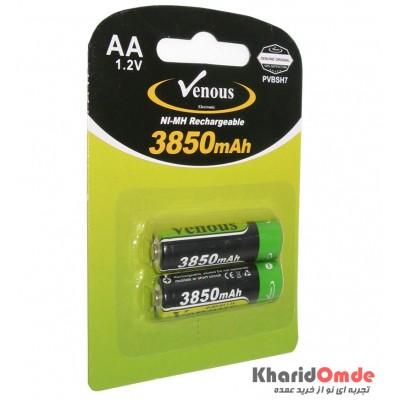 باتری قلمی شارژی Venous مدل PVBSH7 3850mAh