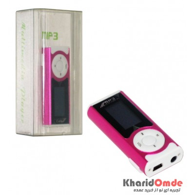 MP3 پلیر LCD دار بزرگ رم خور صورتی
