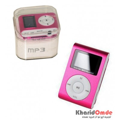 MP3 پلیر LCD دار رم خور کد 029 صورتی