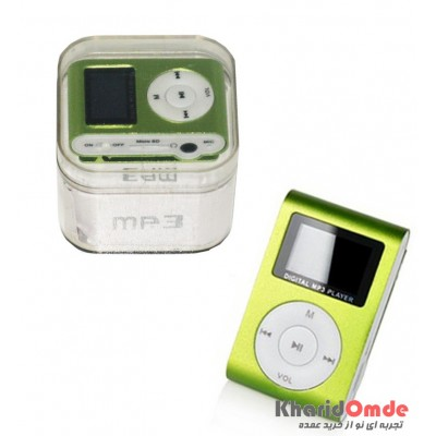 MP3 پلیر LCD دار رم خور کد 029 سبز